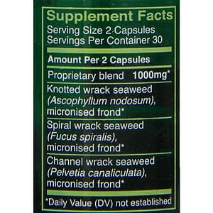 Seagreens seafood food capsules supplement facts