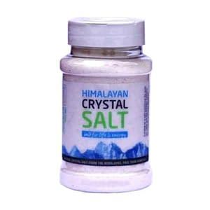 Tub of himalayan fine salt