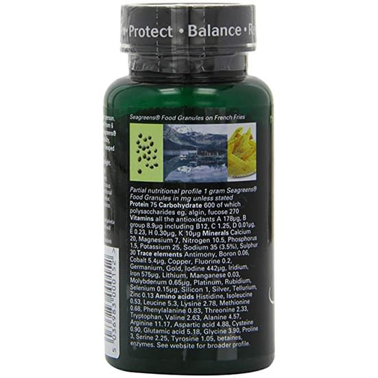 Seagreens seafood food granules supplement facts