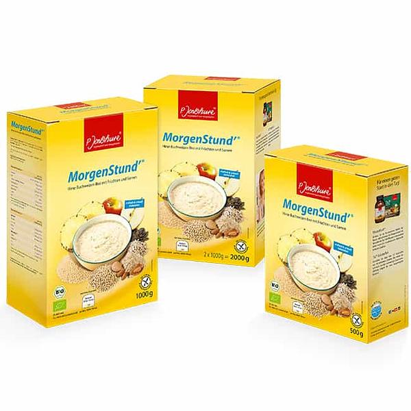Jentschura Morgenstund Alkalising Cereal ® - Millet and buckwheat porridge with fruit and seeds