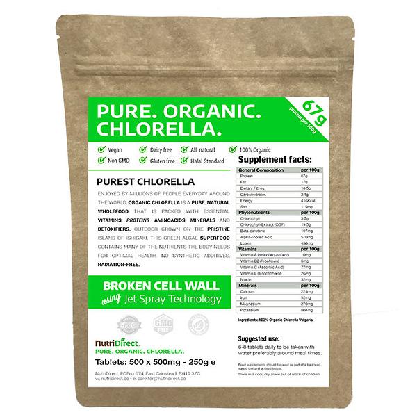 Organic Chlorella Tablets 500