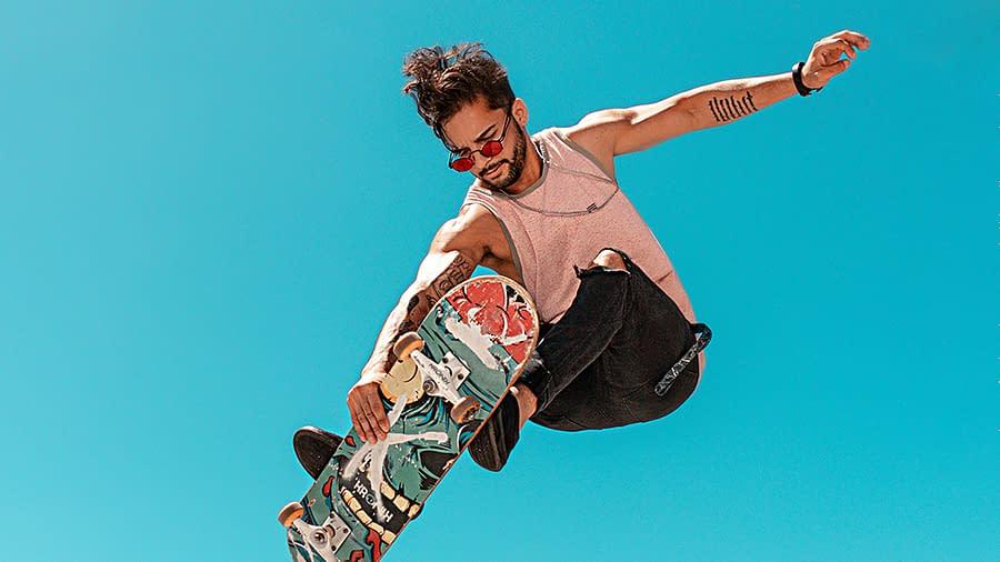 Skateboarding Athlete
